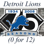 Detroit Lions 0 for 12 as of the end of November