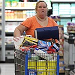Honey Boo Boo's mom stocked up on a number of calorific items including at least six four pound tubs of sugar, each containing approximately 6804 calories.