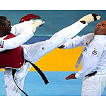 Angel Matos of Cuba deliberately kicked a referee square in the face after he was disqualified in a bronze-medal match, prompting the World Taekwondo Federation to recommend he be banned for life.